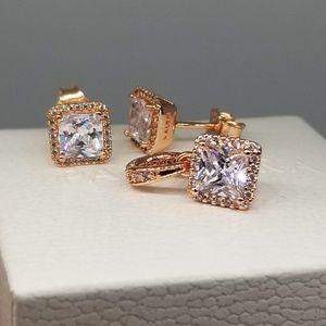 set Pandora  Timeless Elegance pendant earrings
